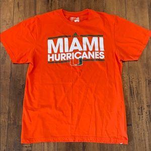 Adidas Miami Hurricanes tee